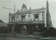 The British Oak Public House.before being demolished